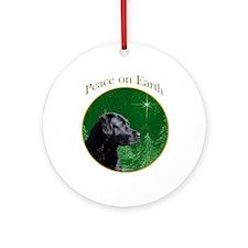 Black Lab Peace Ornament (Round)
