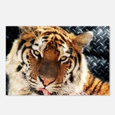 modern grunge cool tiger Postcards (Package of 8)