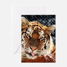 modern grunge cool tiger Greeting Cards