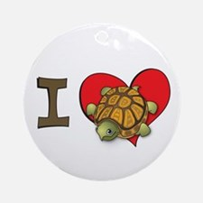 I heart turtles Ornament (Round)