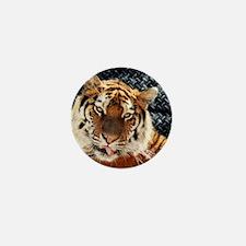 modern grunge cool tiger Mini Button (10 pack)