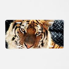 modern grunge cool tiger Aluminum License Plate