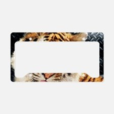 modern grunge cool tiger License Plate Holder