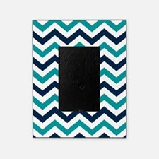 teal white navy blue chevron patt picture frame