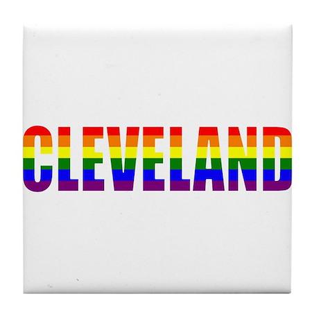 Cleveland Pride Tile Coaster