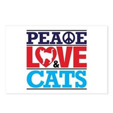 Peace Love And Cats Postcards (package Of 8)