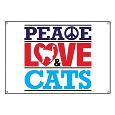Peace Love and Cats Banner