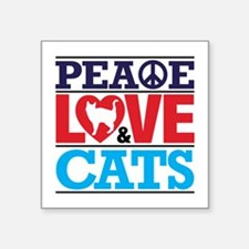 Peace Love And Cats Sticker