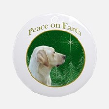 Yellow Lab Peace Ornament (Round)