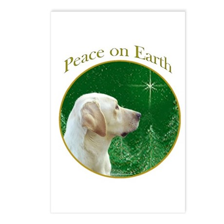 Yellow Lab Peace Postcards (Package of 8)