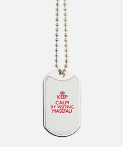 Keep calm by visiting Masefau Samoa Dog Tags