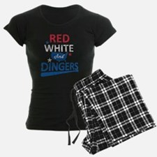 Red White and Dingers Pajamas