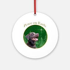 Chocolate Lab Peace Ornament (Round)