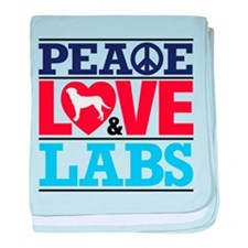 Peace Love and Labs baby blanket