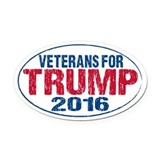 Veterans for trump Oval Car Magnets
