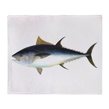 Bluefin Tuna illustration Throw Blanket