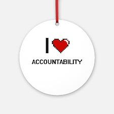 I Love Accountability Digitial De Ornament (Round)