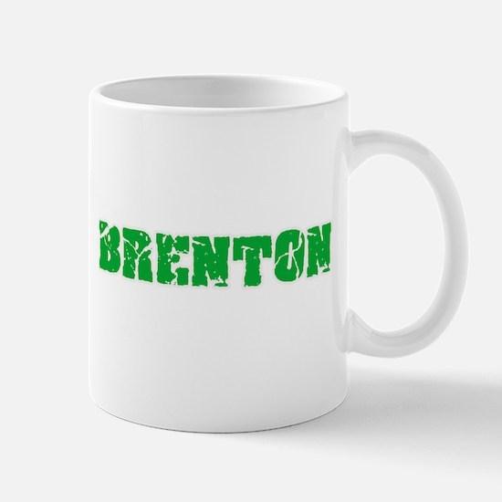 Brenton Name Weathered Green Design Mugs