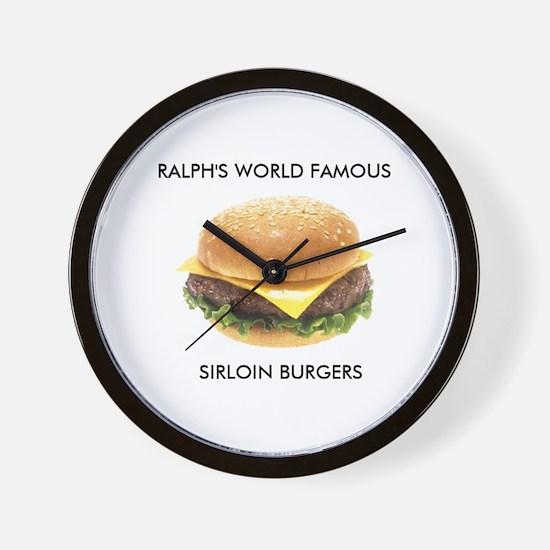 Ralph's World Famous Sirloin Burgers Wall Clock