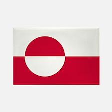 Square Greenland Flag Rectangle Magnet