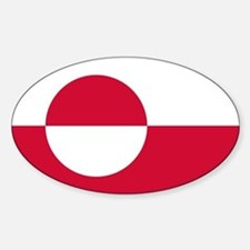 Square Greenland Flag Decal