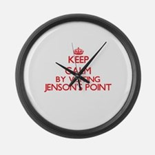 Keep calm by visiting Jenson'S Po Large Wall Clock