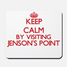 Keep calm by visiting Jenson'S Point Tex Mousepad