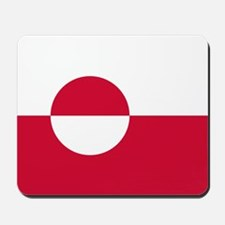 Square Greenland Flag Mousepad