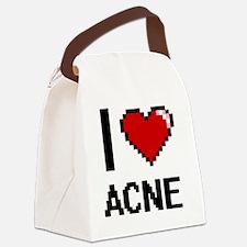 I Love Acne Digitial Design Canvas Lunch Bag