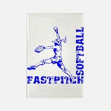 Fastpitch Corner Rectangle Magnet