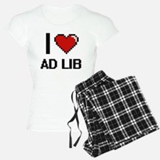 I Love Ad Lib Digitial Desi Pajamas