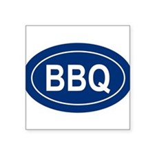 "Unique Bbq Square Sticker 3"" x 3"""