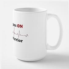 Open heart warrior Mug