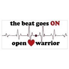 Open heart warrior Poster