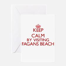 Keep calm by visiting Fagans Beach Greeting Cards