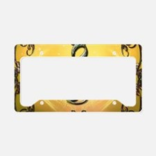 Decorative clef License Plate Holder