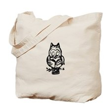 Reading Owl 2 Tote Bag