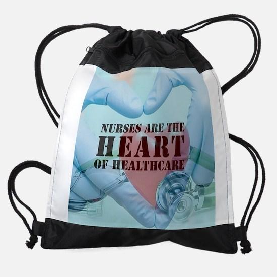 Nurses hearthealthcare Drawstring Bag