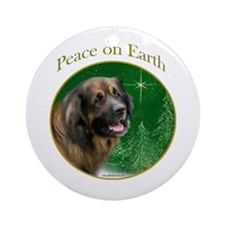 Leonberger Peace Ornament (Round)