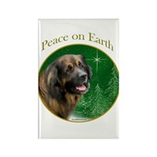 Leonberger Peace Rectangle Magnet