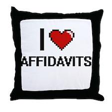 I Love Affidavits Digitial Design Throw Pillow