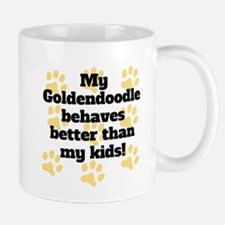 My Goldendoodle Behaves Better Mugs