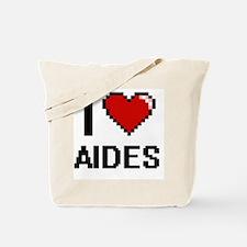 I Love Aides Digitial Design Tote Bag