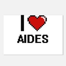 I Love Aides Digitial Des Postcards (Package of 8)