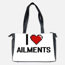 I Love Ailments Digitial Design Diaper Bag
