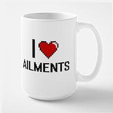 I Love Ailments Digitial Design Mugs