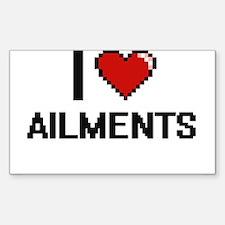 I Love Ailments Digitial Design Decal