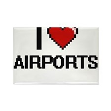 I Love Airports Digitial Design Magnets