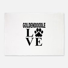 Goldendoodle Love 5'x7'Area Rug