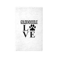 Goldendoodle Love Area Rug